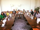 A business lunch with the Guinean Foreign Affairs Minister