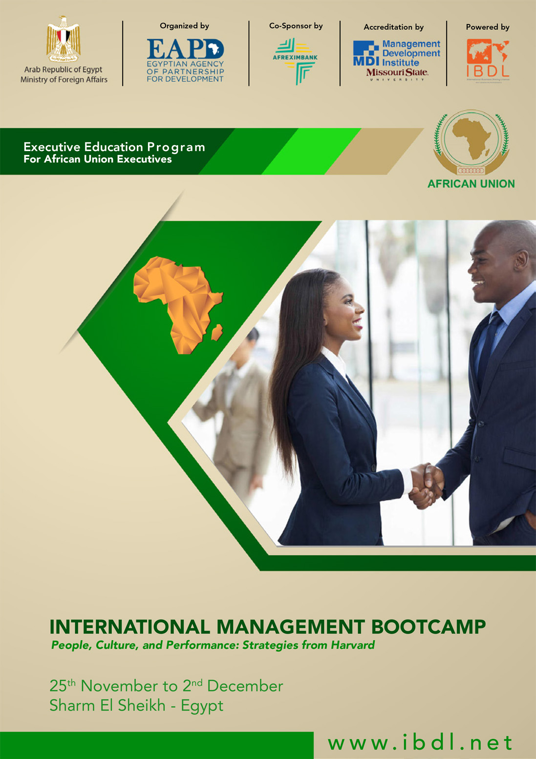 IBDL launches the First Round of African Union Executives' Boot camp